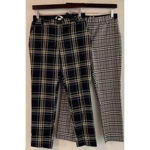 Two Pairs! H&M Plaid Ankle Pants